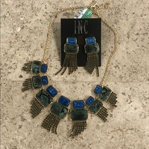 Inc Earrings and necklace set